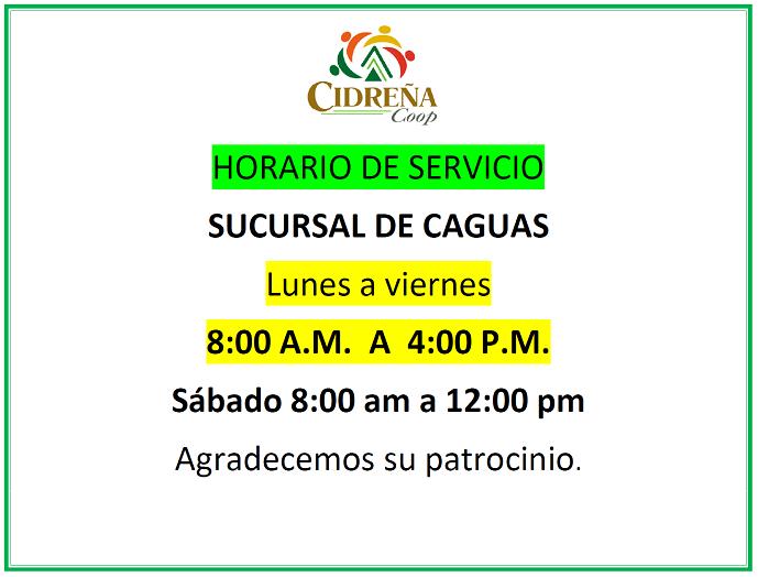 Horario de Sucursal de Certenejas Caguas