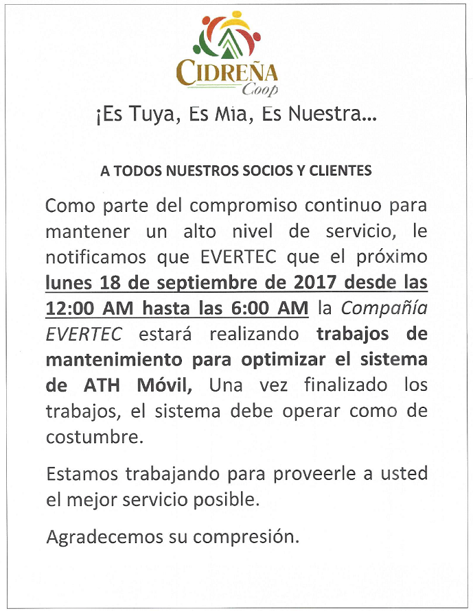 Mantenimiento ATH Movil Sep 2017