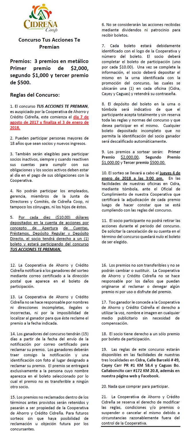 REGLAS CONCURSO DE ACCIONES