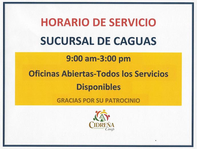 horario de servicio certenejas